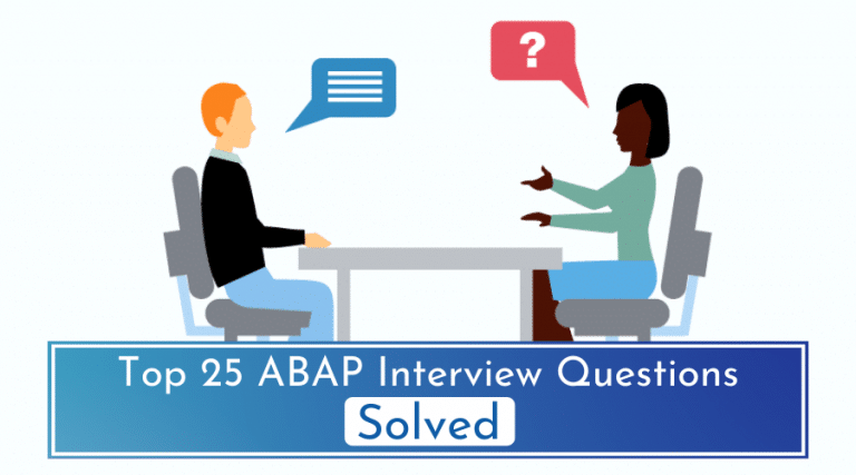 SAP ABAP Interview Questions – Solved